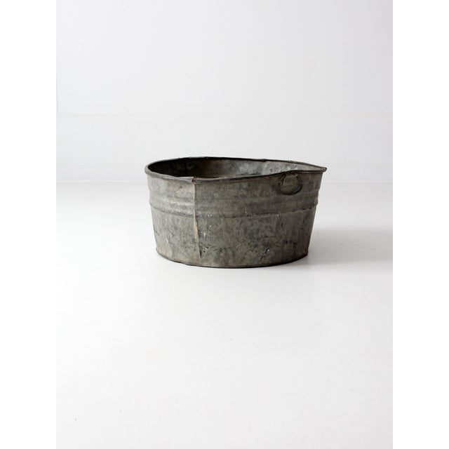 Vintage Galvanized Tub Basin - Image 7 of 8