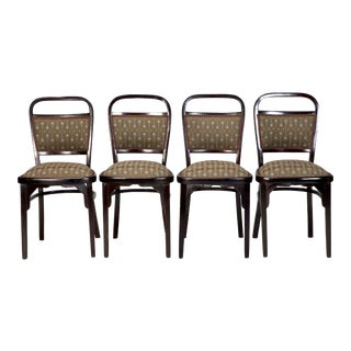 Set of 4 Otto Wagner Bentwood Chairs For Sale