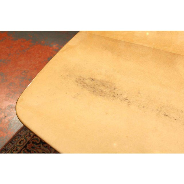Aldo Tura Lacquered Goatskin Dining Table With Knife-edge Top - Image 7 of 11