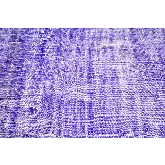 """Shabby Chic Vintage Turkish Anatolian Overdyed Hand Knotted Organic Wool Fine Weave Rug,6'9""""x10'6"""" For Sale - Image 3 of 5"""