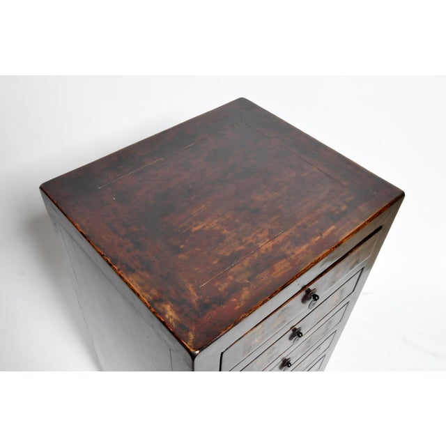 Brown Chinese Side Chests - a Pair For Sale - Image 8 of 13