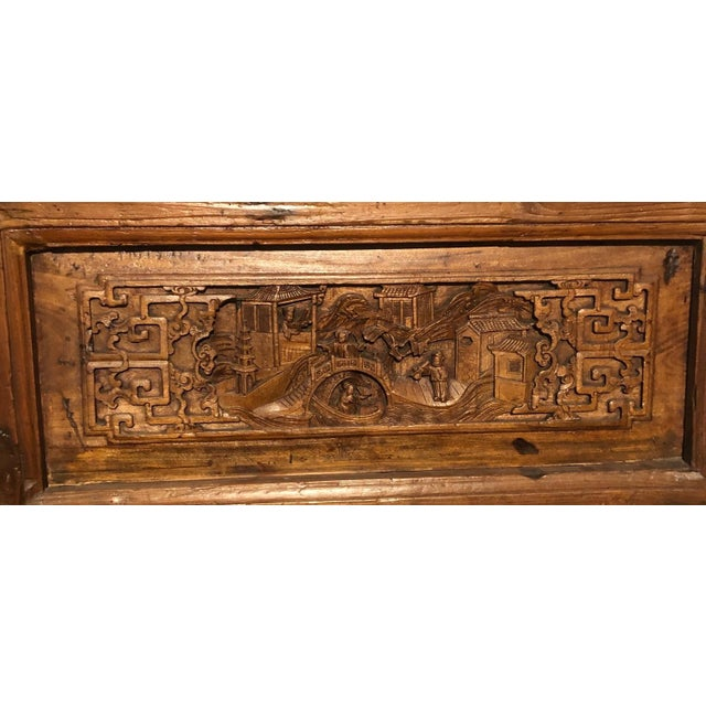 Chinese carved pair of doors from late 19th century. Handcarving and joinery latice work exceptional. Solid construction...
