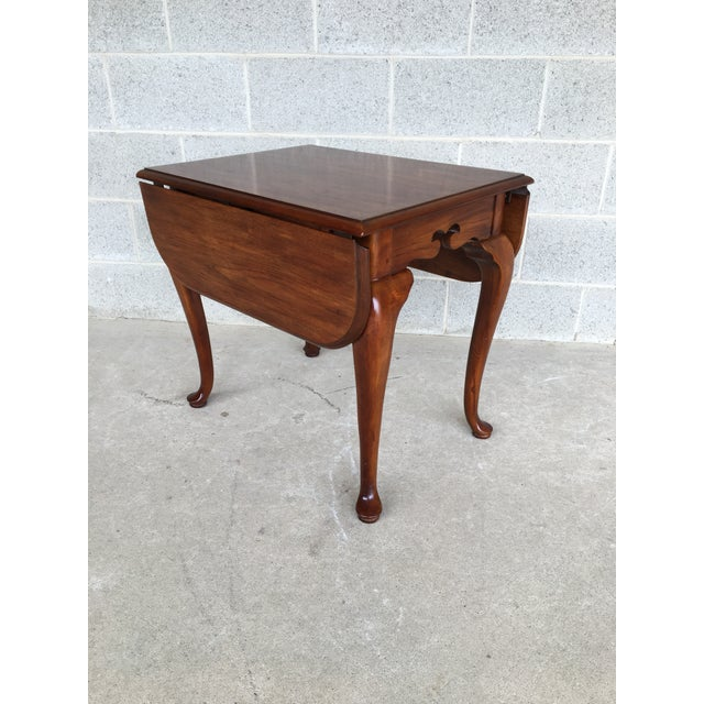 Drexel Heritage Coventry Manor Mahogany Drop Leaf Side Table For Sale - Image 11 of 11