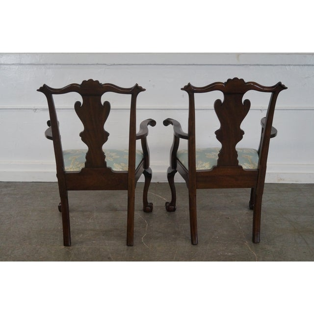 Henkel Harris Mahogany Chippendale Dining Chairs - Pair - Image 7 of 10