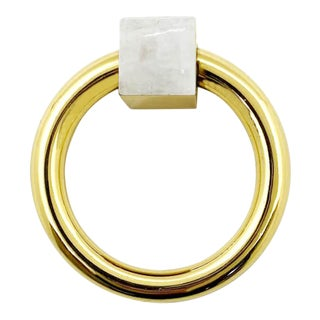 Addison Weeks Porter RIng Pull, Brass & Moonstone For Sale