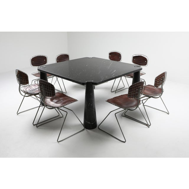 Angelo Mangiarotti 'Eros' Square Marble Dining Table For Sale - Image 6 of 9