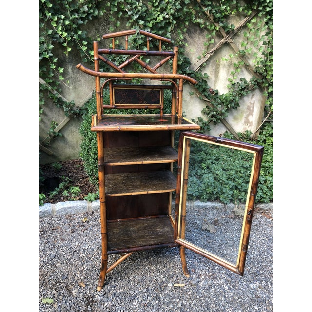 Late 19th Century 19th Century English Bamboo Cabinet For Sale - Image 5 of 11