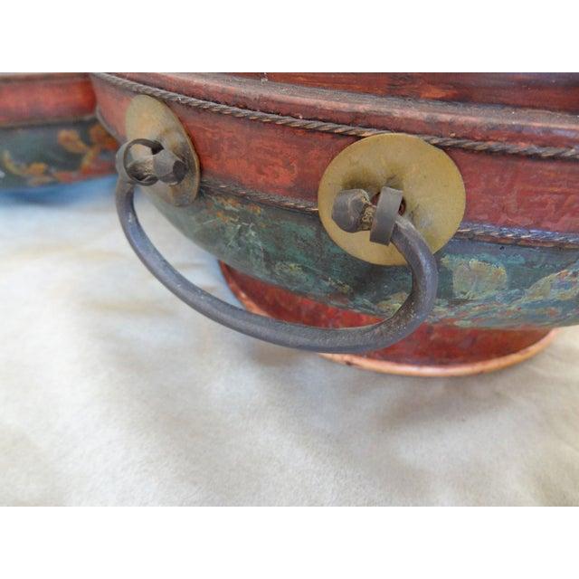 Tibetan Round Wood Box - Image 3 of 10
