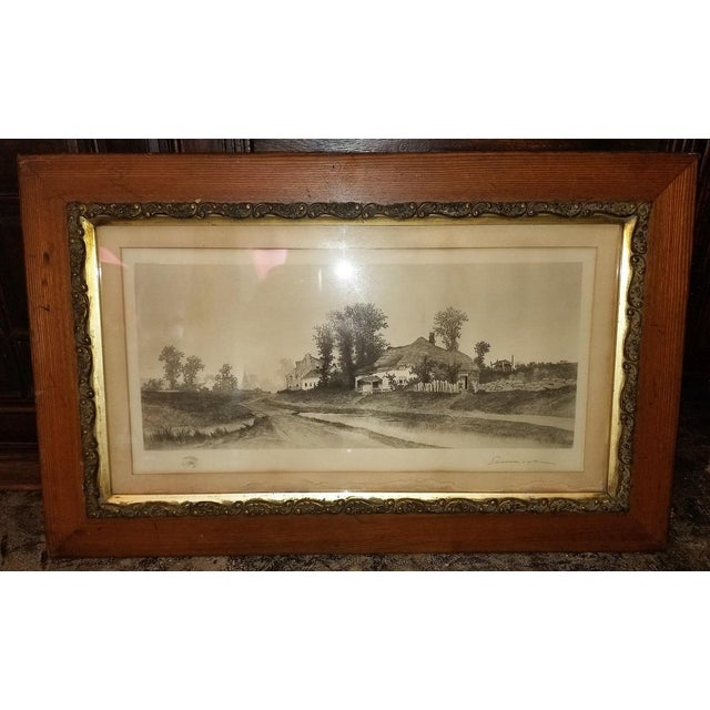 19c New York Signed Etching by Ernest Christian Rost 1891 For Sale In Dallas - Image 6 of 9