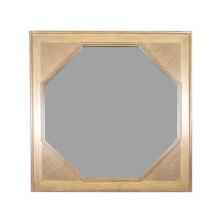 1990s Contemporary Square Framed Octogonal Encased Wall Mirror For Sale