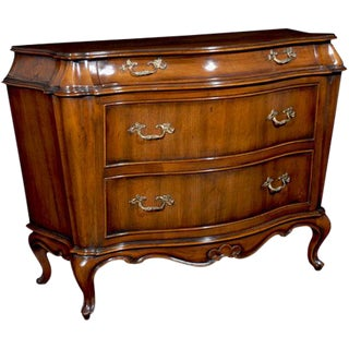 Italian Bombe Wood Carved Chest For Sale