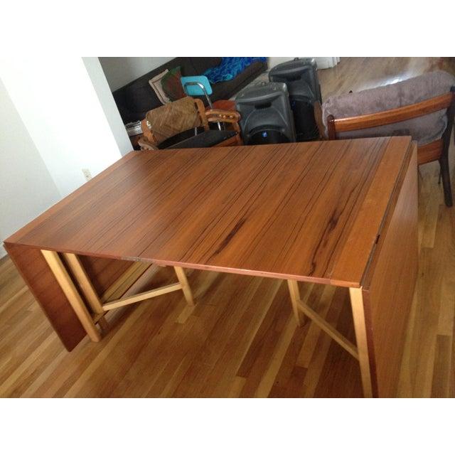 "Teak Expanding ""Maria Flap"" Table - Image 3 of 9"