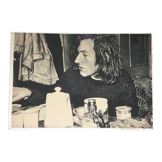 "1972 ""Jean Frédéric Schnyder"" Signed Lithograph by Franz Gertsch For Sale"
