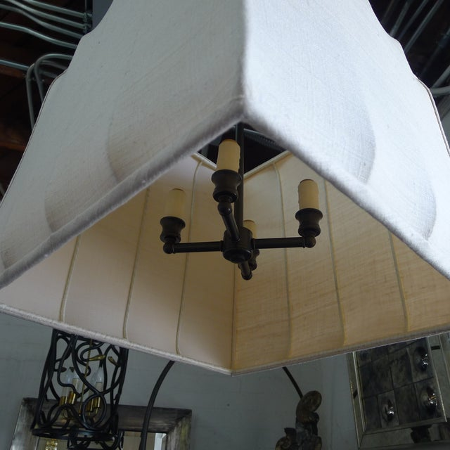 Paul Marra Asian-Inspired Four Light Shaded Pendant For Sale In Los Angeles - Image 6 of 7