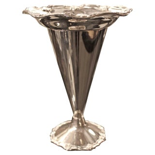 Antique 1920s Silver Plated English Bouquet Vase
