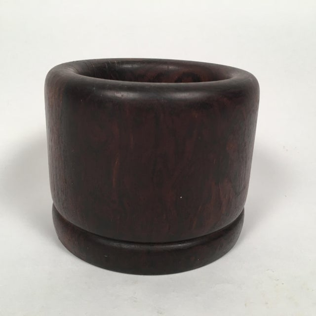 Mid-Century Modern Solid Rosewood Bowl or Vase For Sale - Image 3 of 9