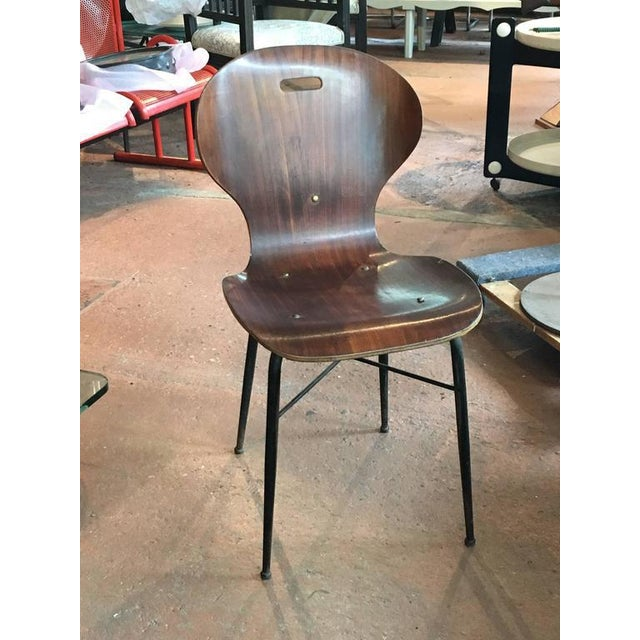 Mid-Century Modern Rare Carlo Ratti Molded Plywood Dining Chairs, 12 Available For Sale - Image 3 of 6