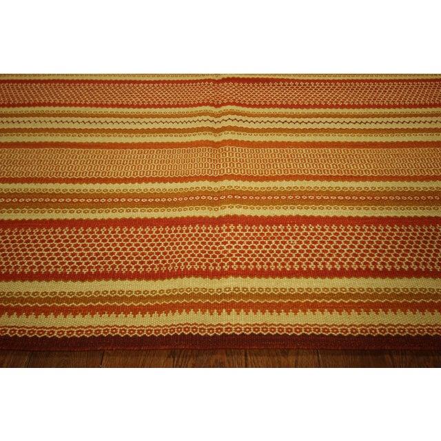"Multicolor Modern Kilim Rug - 5'7"" x 8' - Image 5 of 6"