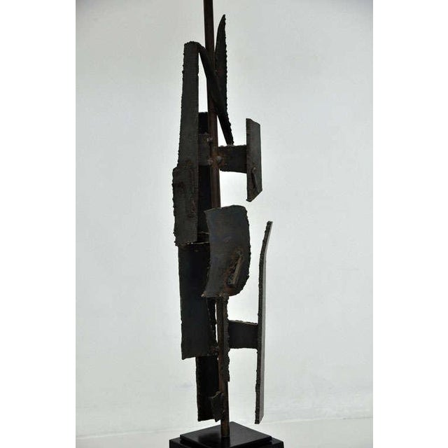 Metal Brutalist Sculpture Lamps by Harry Balmer For Sale - Image 7 of 10
