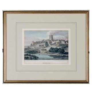 c1854 Richmond Castle, Yorkshire, England Engraving by Thomas Girtin
