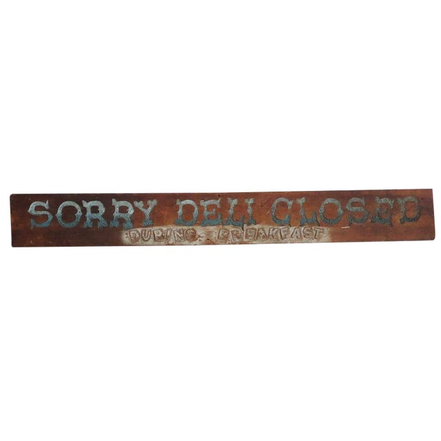 Folky Original Painted Trade Sign, Early 20th Century For Sale