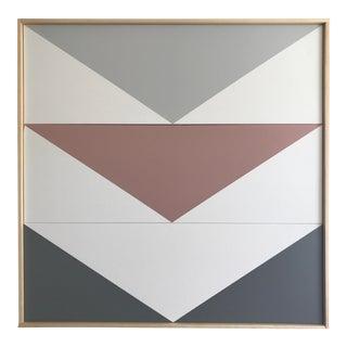 """Original Acrylic Painting """"Arrow Down Triptych JET0510"""""""