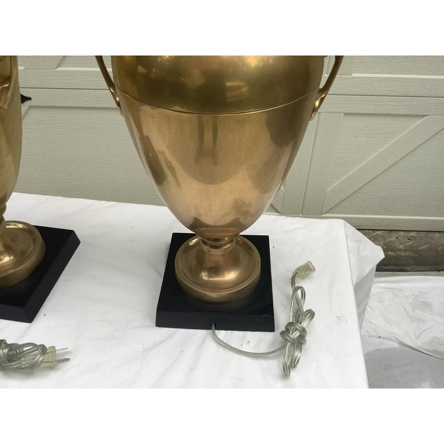 Chapman Brass Urn Lamps, a Pair For Sale In Atlanta - Image 6 of 12