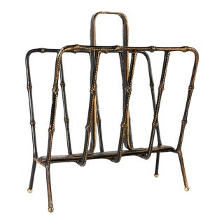Book Rack by Jacques Adnet For Sale