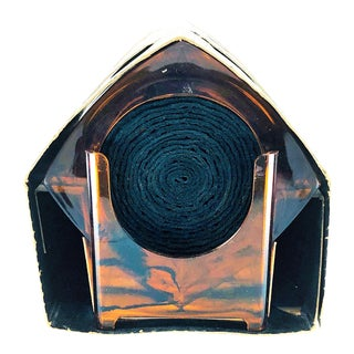 "Mid-Century Modern Majestic Gifts ""Tortoise Shell"" Lucite Coasters - Set of 8 For Sale"