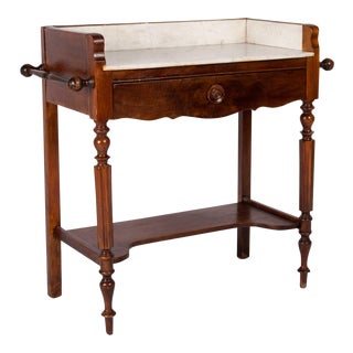 19th Century French Marble Top Vanity Table For Sale