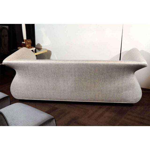 White Hollywood Regency Swan Sofa Designed by Dialogica For Sale - Image 8 of 11