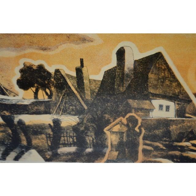 Paper Vintage Framed Limited Edition Landscape Serigraph - Signed and Numbered For Sale - Image 7 of 13