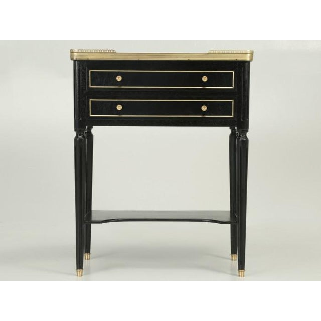 French Antique French Louis XVI Style End Table or Night Stand For Sale - Image 3 of 10