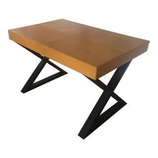 1980s Vintage Leather Desk For Sale