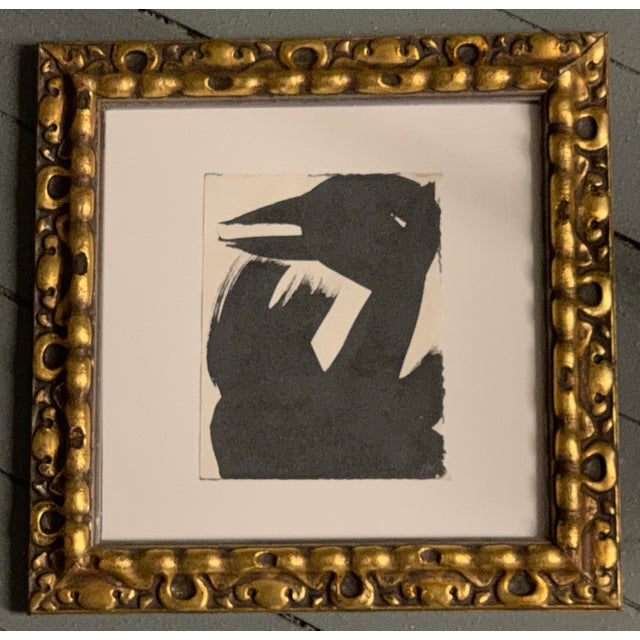 """Original Vintage Robert Cooke Abstract """"Black Duck"""" Painting For Sale - Image 4 of 4"""