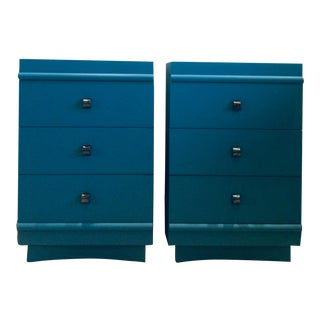 Mid 20th Century Modern Painted Nightstands-a Pair For Sale