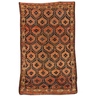 Antique Early 19th Century Beshir Rug