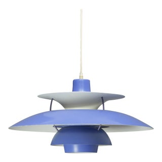 Louis Poulsen Ph5 Blue Pendant Lamp For Sale