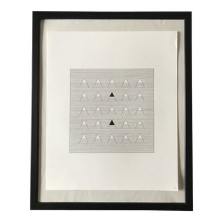 Lines and Triangles Hand Drawn Ink Illustration For Sale