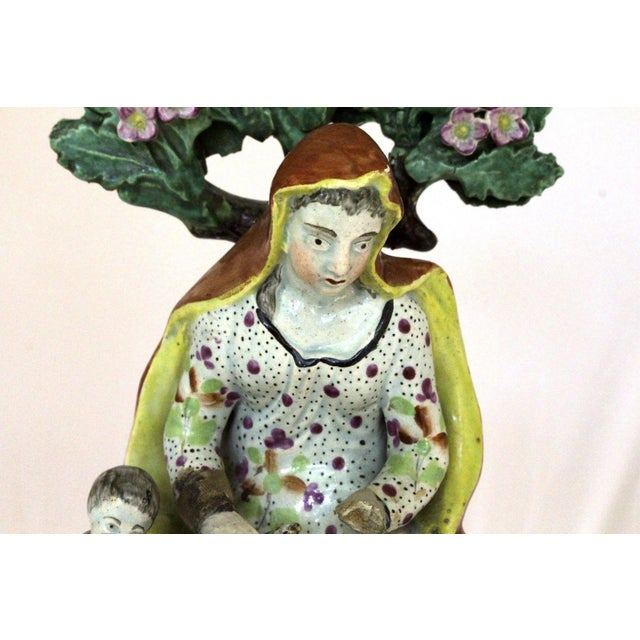 """English 1820s Staffordshire """"Widow"""" Figure For Sale - Image 3 of 9"""