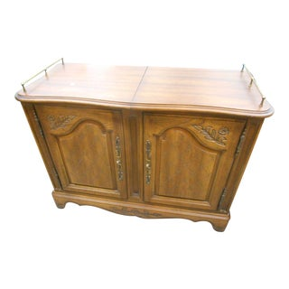 Mid-Century Hickory Furniture Co. Rolling Buffet Server For Sale