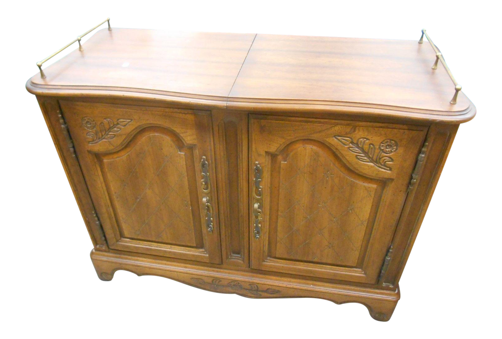 Genial Mid Century Hickory Furniture Co. Rolling Buffet Server For Sale