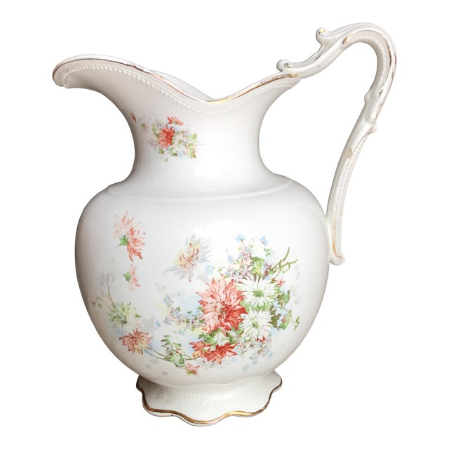 Vintage Flower Vase Pitcher Chairish
