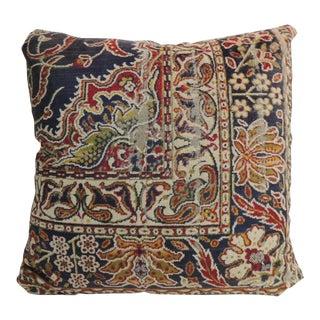 Vintage Large Cotton Velvet Floral Turkish Floor Pillow #2 For Sale