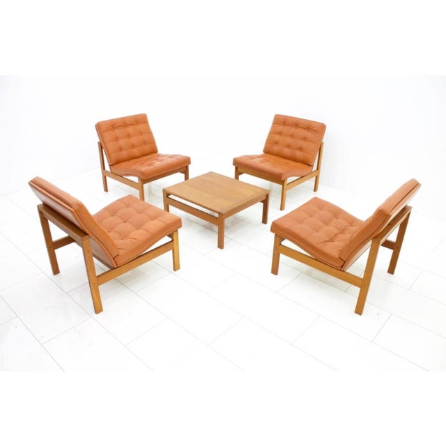 Torben Lind and Ole Gjerlov Modular Seating Group Chairs Sofa for France & Son For Sale - Image 9 of 9