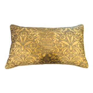 1940s Fortuny Fabric Pillow For Sale