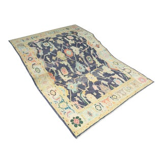 'Cicle' Turkish Oushak Rug - 10′ × 14′3″ For Sale