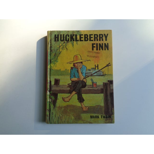 1950s 1960s Vintage Huckleberry Finn Book by Mark Twain For Sale - Image 5 of 5