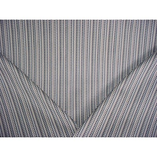 Romo Ditton Buxton Blue Textured Southwest Weave Upholstery Fabric - 4 3/4 Yards For Sale
