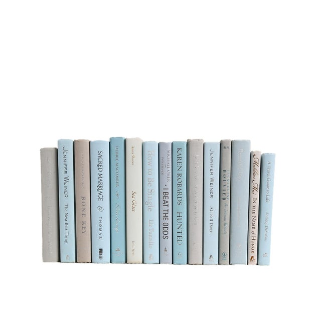 Cottage Modern Muted MIX - Fifteen Decorative Books For Sale - Image 3 of 3